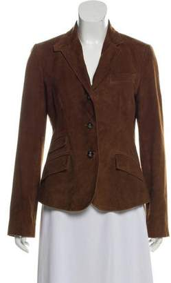 Ralph Lauren Suede Notch-Lapel Blazer
