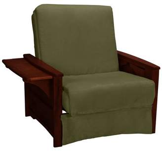 Comfort Style Bayview Perfect Sit & Sleep Pocketed Coil InnerSpring Pillow Top Chair Sleeper Child Bed, Chair, Mahogany, Suede Khaki