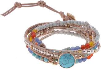 Nakamol Design Beaded Stone Wrap Bracelet