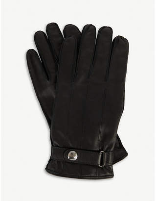 Paul Smith Popper leather gloves