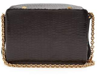 Lutz Morris - Morrow Small Crocodile Effect Leather Bag - Womens - Black Gold