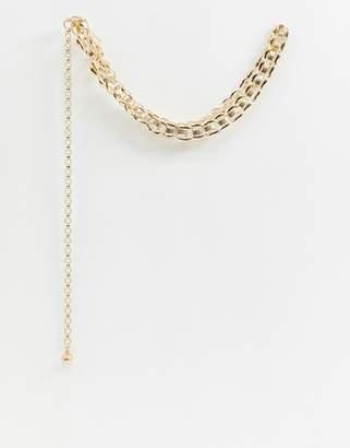 Glamorous chunky gold chain belt