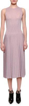 Bottega Veneta Sleeveless Pleated-Skirt Midi Dress, Rose Bouvard $2,550 thestylecure.com