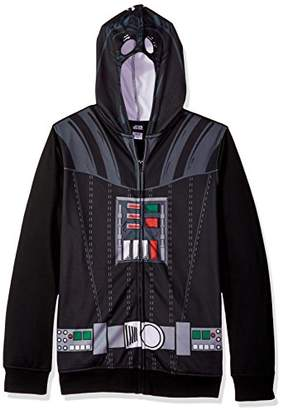 Star Wars Men's Darth Vader Character Zip Front Hoodie
