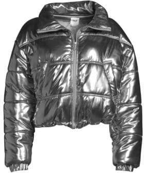 Tach Mirna Metallic Puffer Coat
