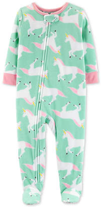 Carter's Toddler Girls Unicorn-Print Footed Pajamas