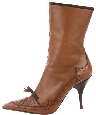 pradaPrada Pointed-Toe Ankle Boots