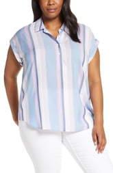 Vince Camuto Sunset Stripe Henley Shirt