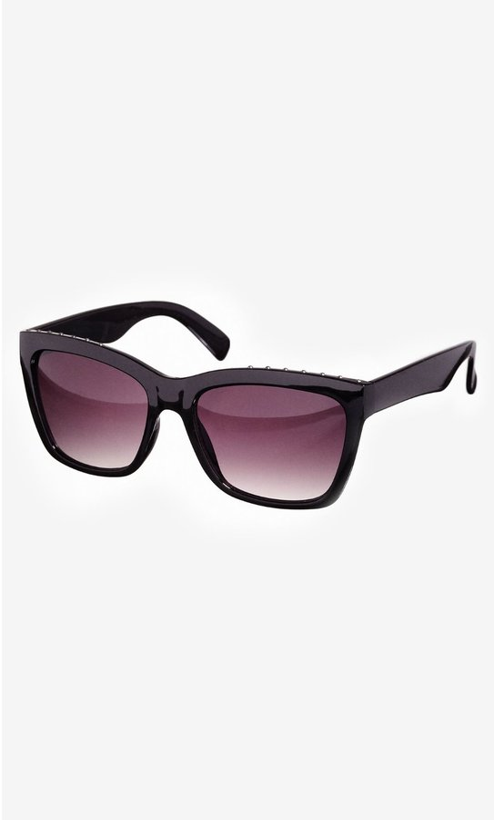 Express Studded Top Square Sunglasses