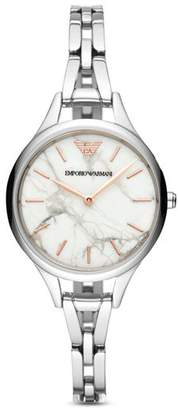 Emporio Armani Three-Hand Stainless Steel Watch, 32mm