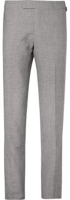 Kingsman Harry's Grey Puppytooth Wool And Linen-Blend Suit Trousers