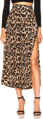Smythe Pleated Side Slit Skirt