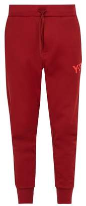 Y-3 Y 3 Logo Print Jersey Track Pants - Mens - Red
