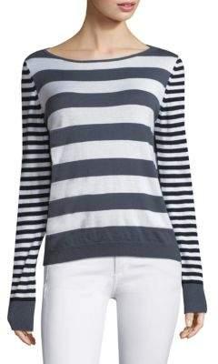 Max Mara Striped Silk & Cashmere Sweater