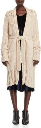 Roberto Collina Chunky Alpaca Belted Duster