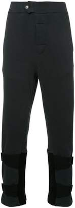 Ann Demeulemeester string trim track pants