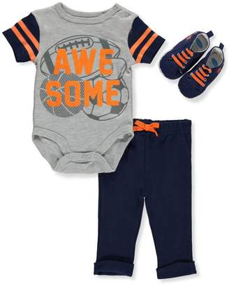 Bon Bebe Baby Boys' 3-Piece Outfit - Gray Multi, 6-9 Months