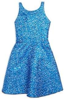 Zoe Girl's Reign in Royal Rea Metallic Brocade Swing Dress