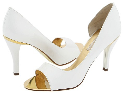Michael Kors - Court (White Patent/Gold ABS Rand)