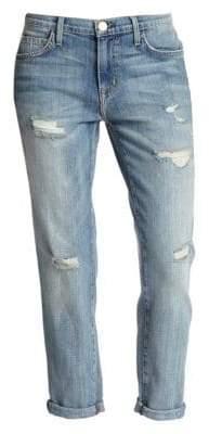 Current/Elliott The Fling Distressed Slim-Fit Boyfriend Jeans