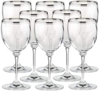 Mikasa Set of 8 Crystal Wine Glasses