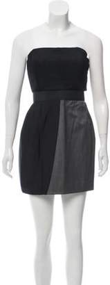 Jay Ahr Pleated Wool Dress Grey Pleated Wool Dress