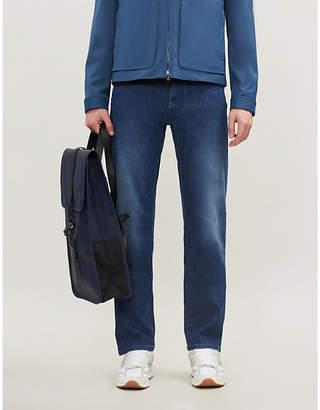 Corneliani Logo-embroidered regular-fit straight jeans