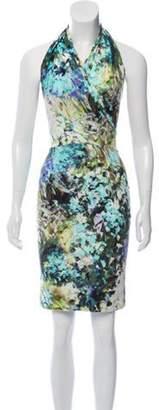 Chiara Boni Printed Halter Dress Green Printed Halter Dress