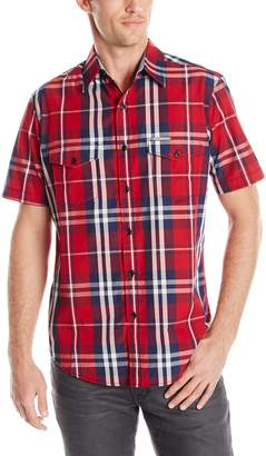 U.S. Polo Assn. Men's Slim Fit Short Sleeve Plaid Sport Shirt