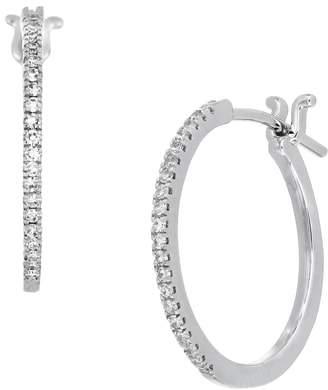 Carriere JEWELRY Bypass Diamond Hoop Earrings