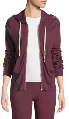 Sundry Metallic Side-Stripe Hooded Jacket