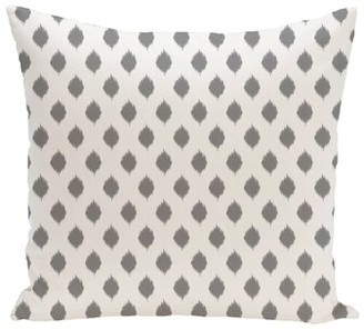 e by design Cop-Ikat Geometric Print Outdoor Throw Pillow e by design