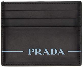 Prada Black Nappa Logo Card Holder