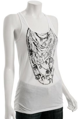 Torn white jersey 'One Truth' tank