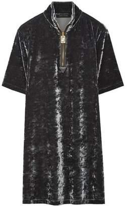 Marc Jacobs Crushed-Velvet Mini Dress