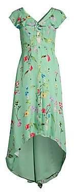 Parker Women's Raven Floral Ruffle Front Dress