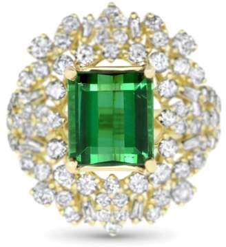 Alberto Emerald Cut Green Tourmaline Ring
