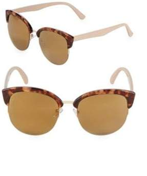 Fantas-Eyes Mirrored 52MM Clubmaster Sunglasses