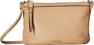 Calvin Klein Women's Small Pebble Leather Crossbody