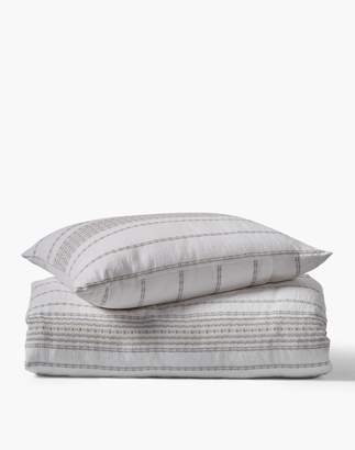 Madewell Coyuchi Rippled Stripe Organic Cotton Duvet Cover