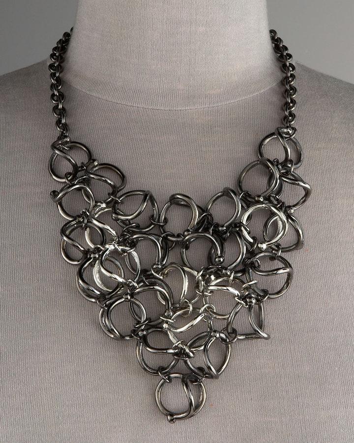 Paige Novick Link Bib Necklace