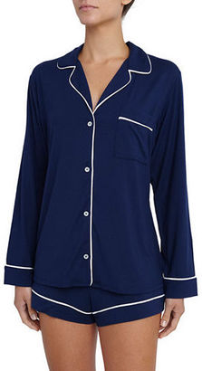 Eberjey Gisele Long-Sleeve Short Pajama Set $115 thestylecure.com