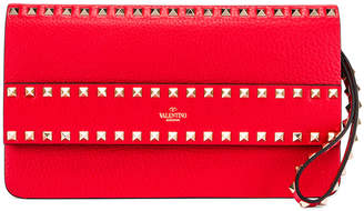 Valentino Rockstud Clutch in Red | FWRD