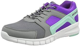 Gola Girls' Santo Toggle Multisport Outdoor Shoes, Grey(Grey/Purple/Mint), (37 EU)