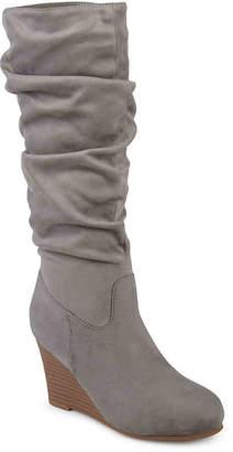 b56e36023a2 Journee Collection Haze Wide Calf Wedge Boot - Women s