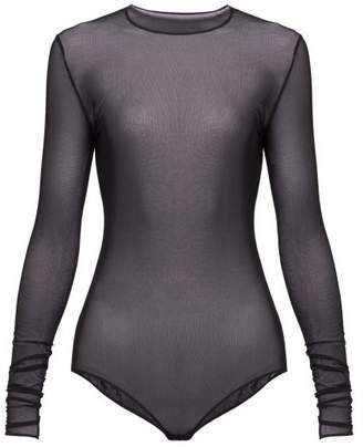 Maison Margiela Mesh Bodysuit - Womens - Black