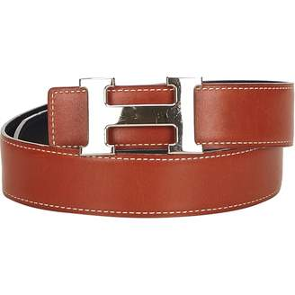 Hermes Vintage H Brown Leather Belts