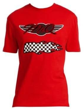 McQ Dropped Shoulder Race Flag T-Shirt