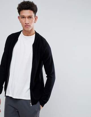 Threadbare Knitted Bomber Zip Through