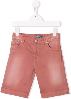 Bonpoint stonewashed denim shorts